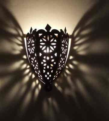 Wonderful Lantern from the Arabian Nights Metal lantern carved and