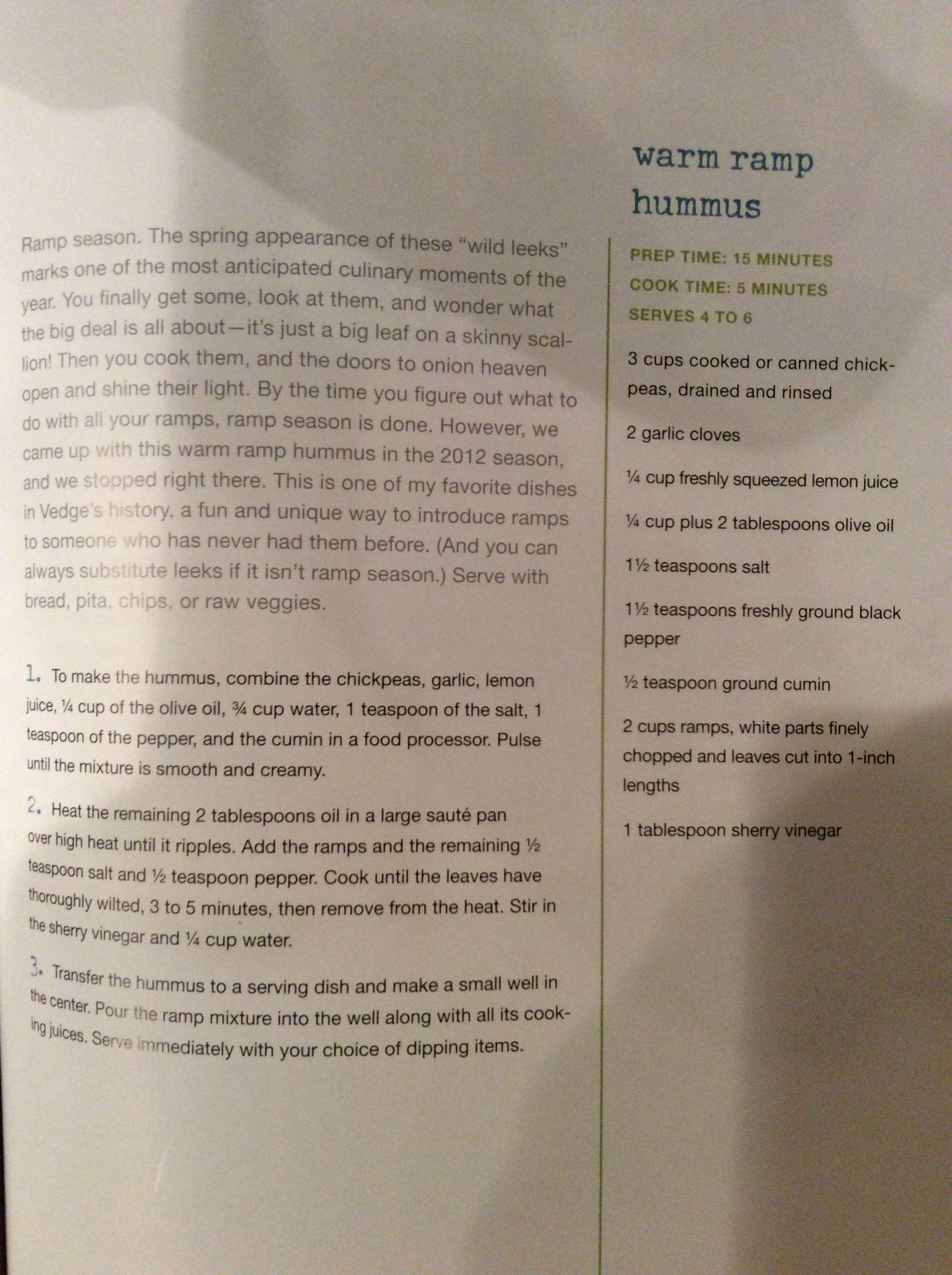 Warm Ramp Hummus VEDGE | Vegan - APPETIZERS | Vegan