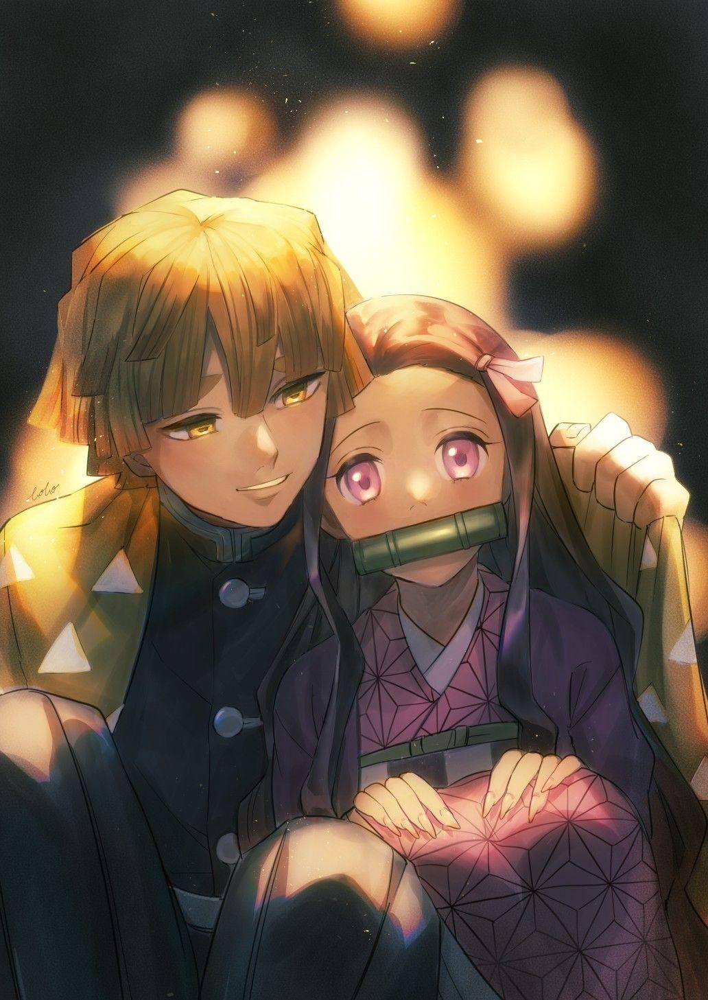 Zenitsu X Nezuko Anime Demon Slayer Anime Anime Romance
