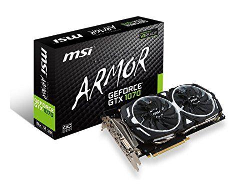 Msi Gaming Geforce Gtx 1070 8gb Gddr5 Sli Directx 12 Vr Ready Graphics Card Gtx 1070 Armor 8g Oc Graphic Card Msi Video Card