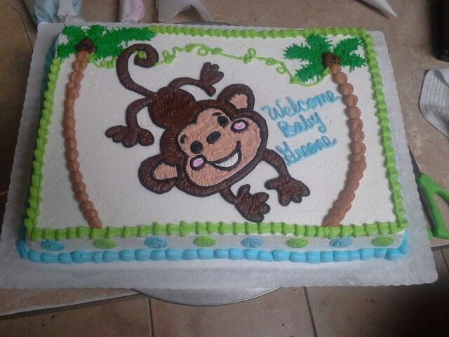 Monkey Baby Shower Cake Baby Shower Sheet Cakes Monkey Baby