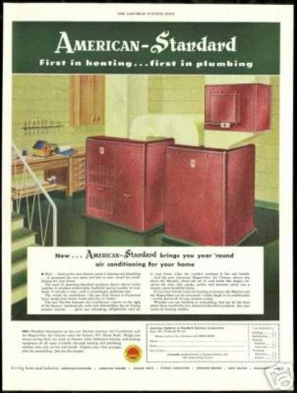 American Standard Home Air Conditioner Cleaner 1951 Vintage