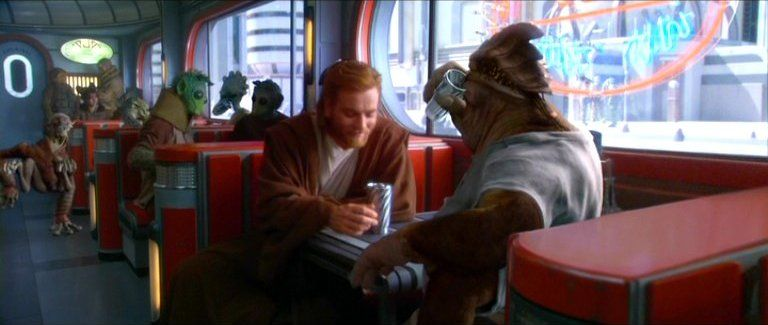 Obi Wan And Dexter Jettster Attack Of The Clones Obi Wan I Wonder Why It Didn T Show Up In The Analysis Archives Star Wars Fans The Force Is Strong Obi Wan