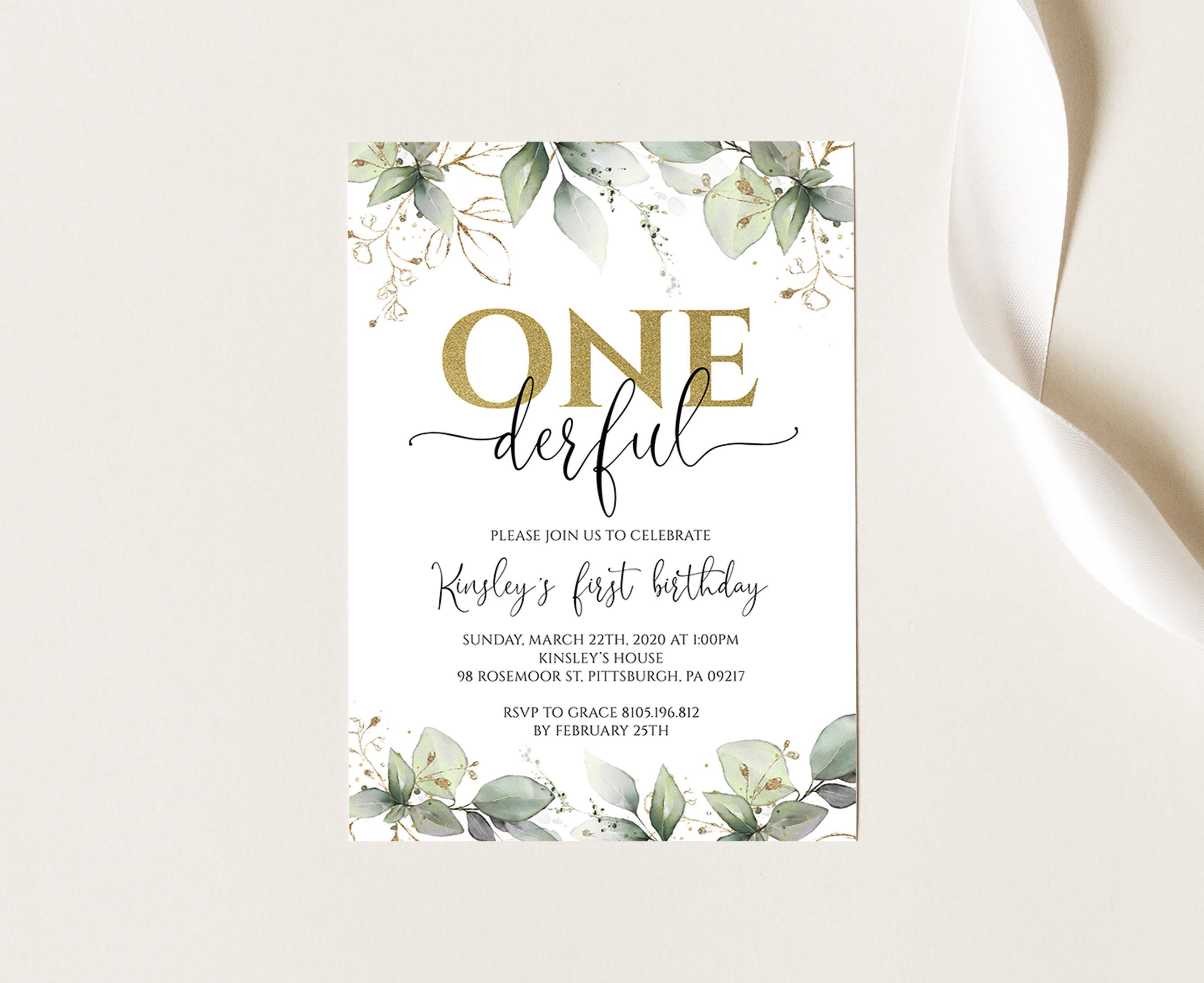 onederful 1st birthday invitation