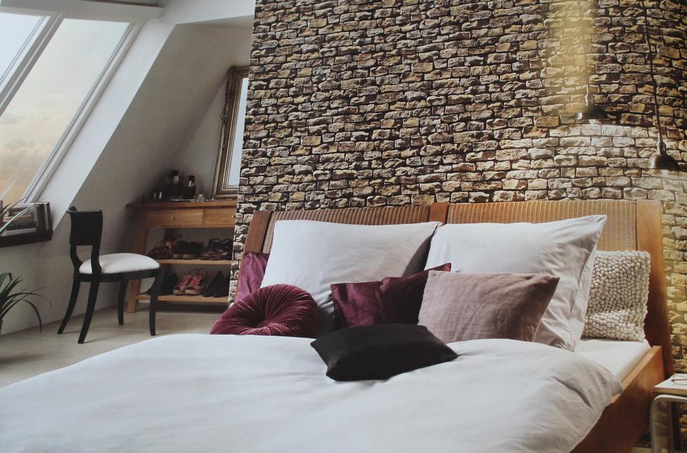 Tapeten-ideen-schlafzimmer-Tapete-Motiv-Schlafzimmer-Wand-Stein ...