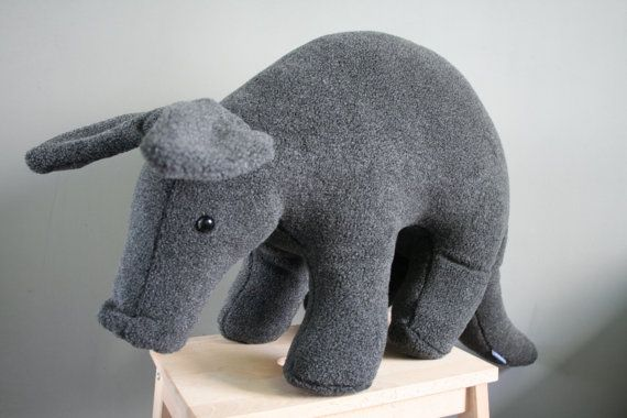 Arie Aardvark big plush made to order by Smittensknuffels on Etsy