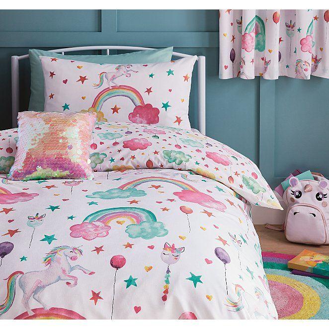 Unicorn Kids Bedding Collection Bedding George At Asda Girls Bedroom Themes Duvet Sets Kids Bedding Sets