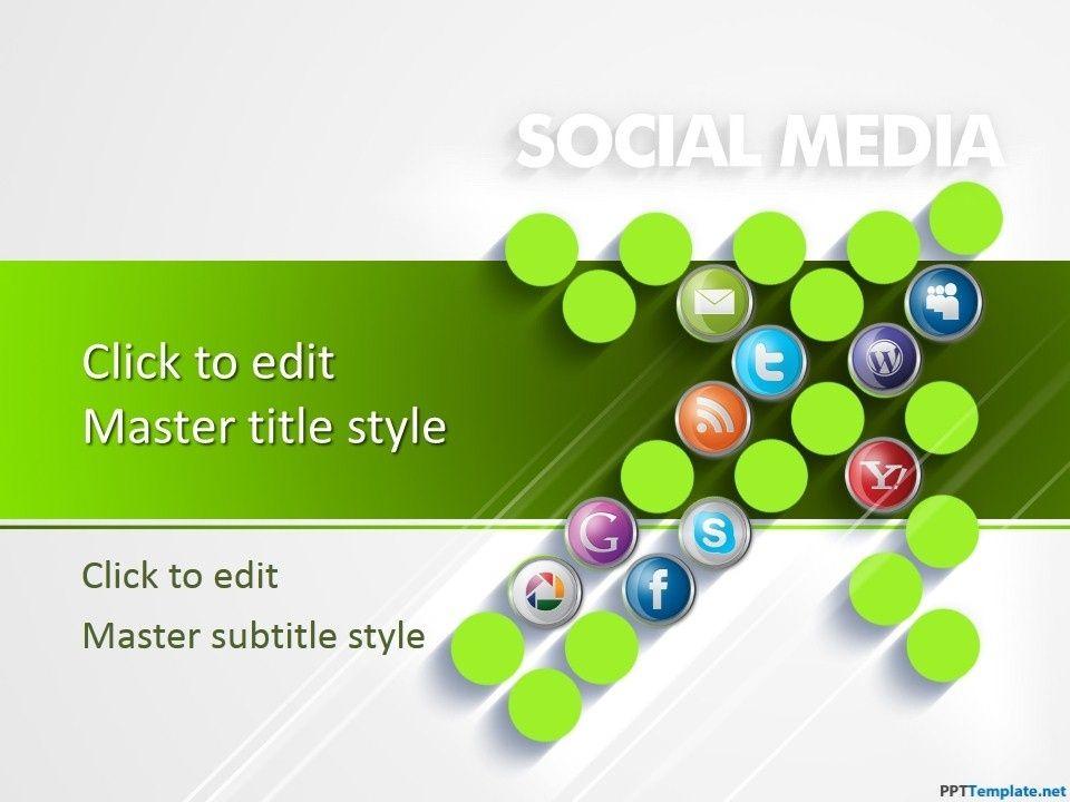 Free Social Media Digital Marketing Ppt Template Regarding