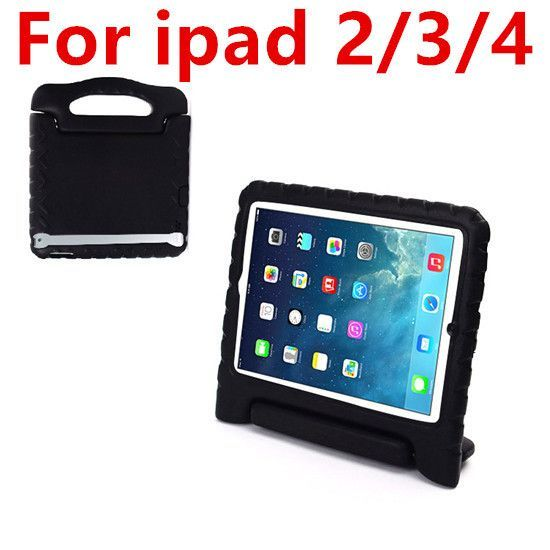 New Kids Shockproof Safe Handle Foam Case For Apple iPad 2/ 3/ 4 Cover + Stylus Pen Free shipping