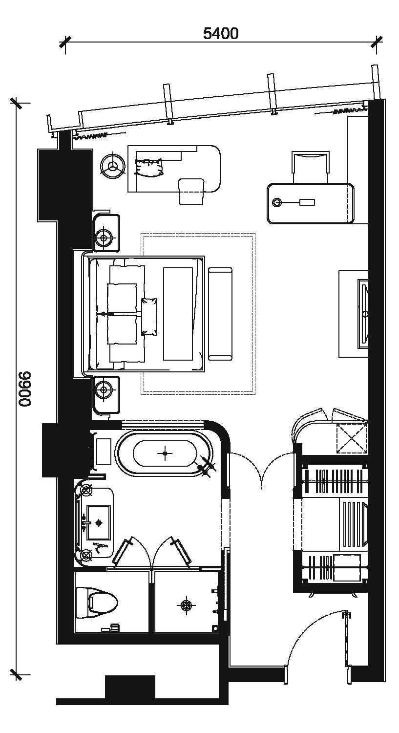 Hotel Room Plan: 深圳瑞吉酒店 (2011)|The St. Regis Shenzhen (With Images)