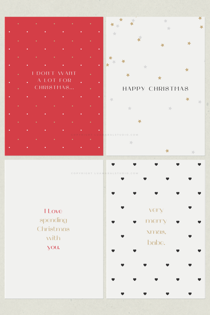 6 Minimalist Christmas Card Designs Pdf Printable Png Digital And Canva Template Lu Amaral Stu Minimalist Christmas Card Christmas Card Design Card Design