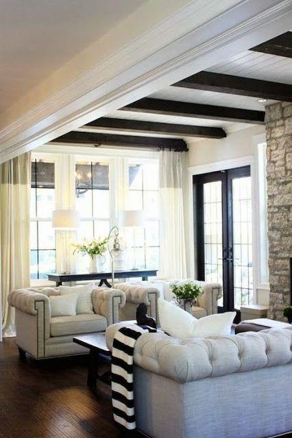 dark and white trim natural floors white walls