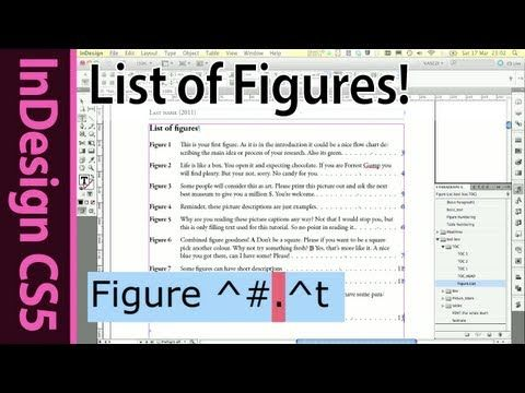 ▷ InDesign List of Figures and Tables Tutorial - YouTube | InDesign