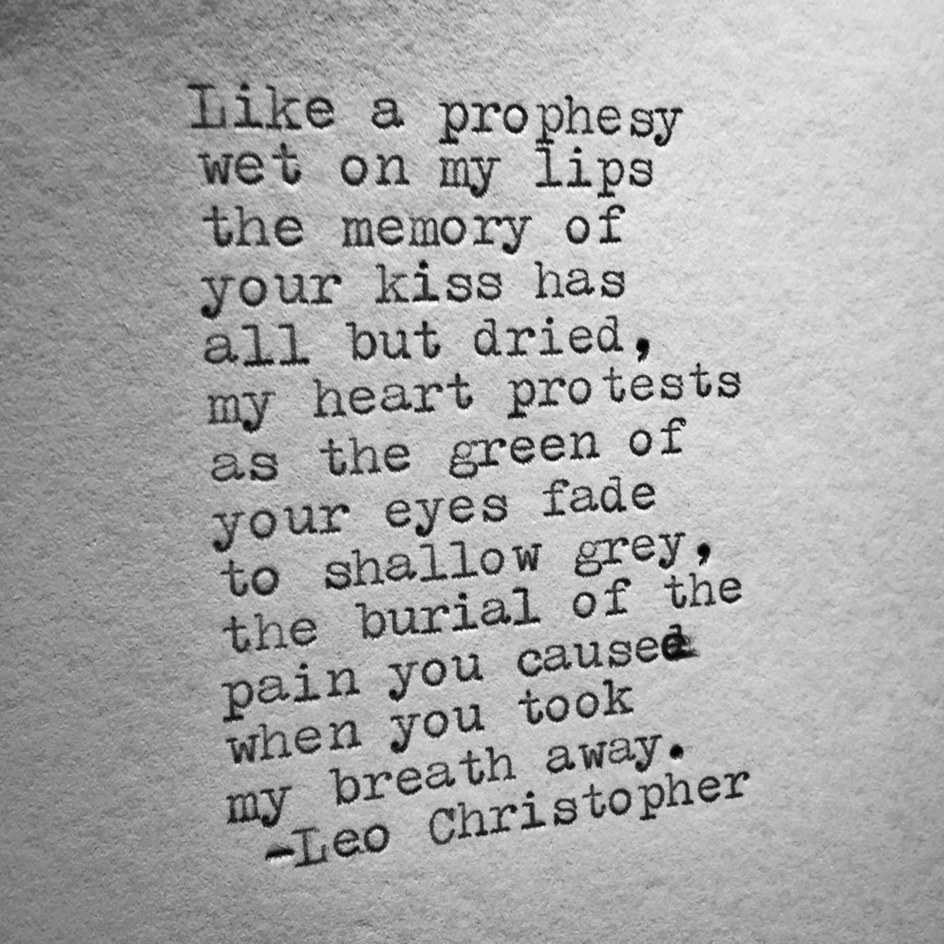 Leo Christopher • Shallow Grave | Poetry   and Words of Deep