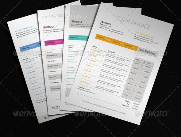 20 Creative Invoice \ Proposal Template Designs Template - graphic design invoice sample