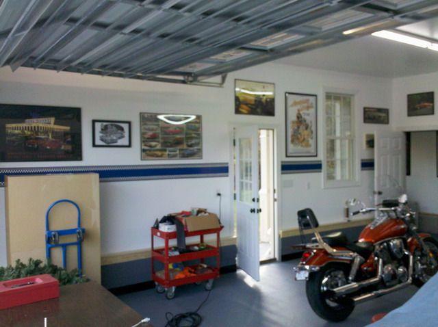Good Height For Garage Stripe Striped Walls Garage Design Garage Decor