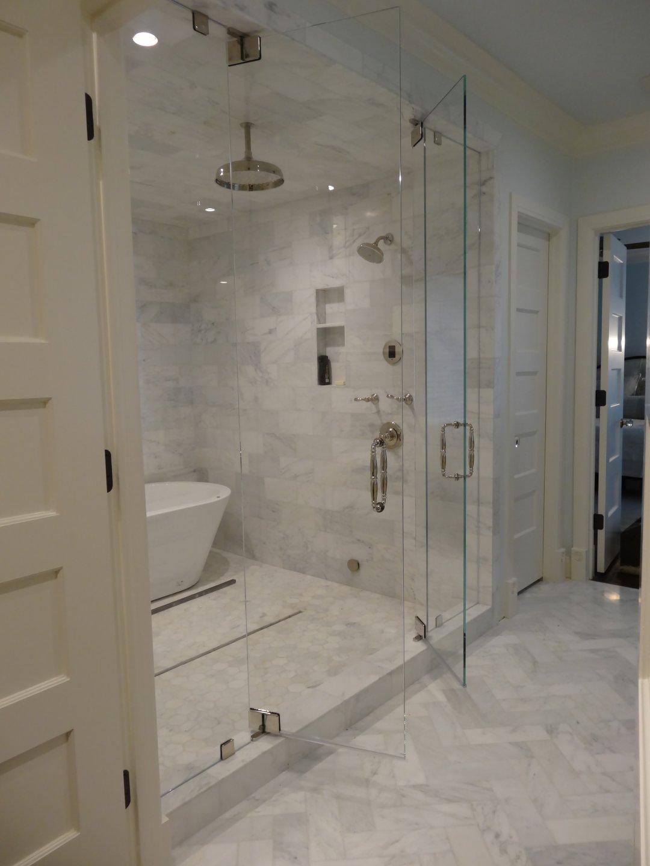 Bathroom Designs With Walkin Tubs Steam Shower Marble Tiling Swing