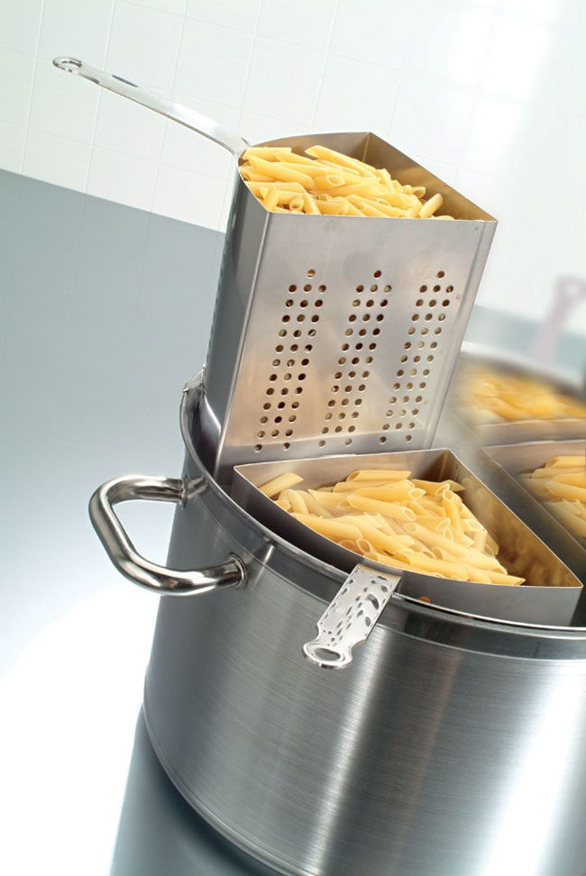 Show Details For Triangle Pasta Cooker Strainer Pasta Cookers