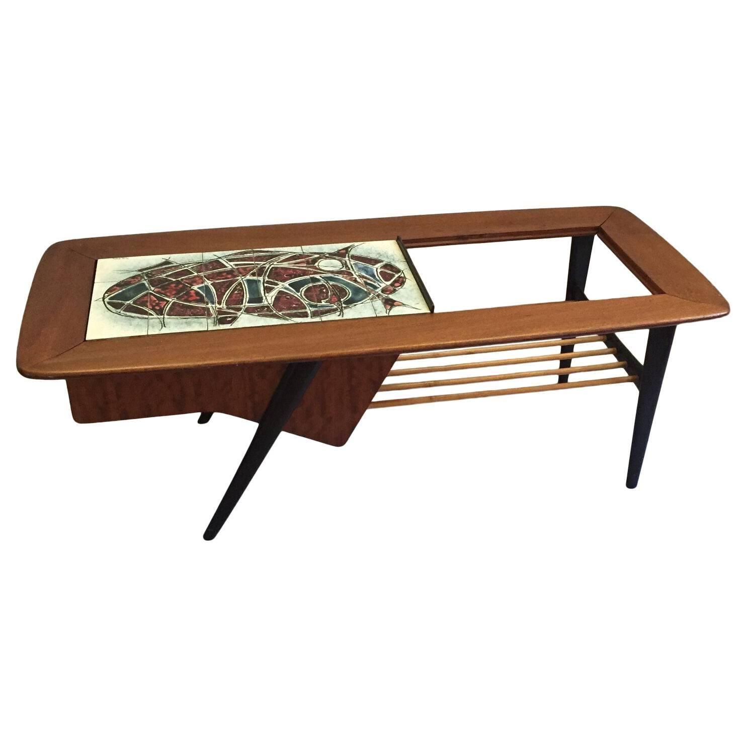 Alfred Hendrickx Coffee Table for Belform Belgium 1950s