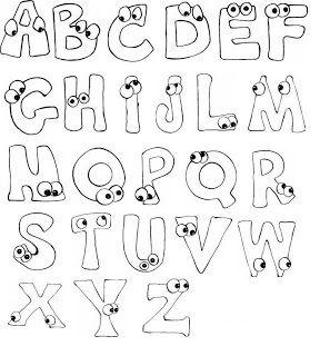 Letras infantiles para imprimir actividades con ni os - Letras infantiles para puertas ...