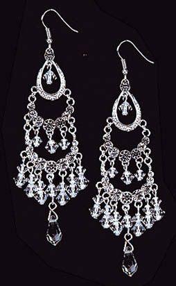 Cascading Teardrops Crystal Chandelier Earrings