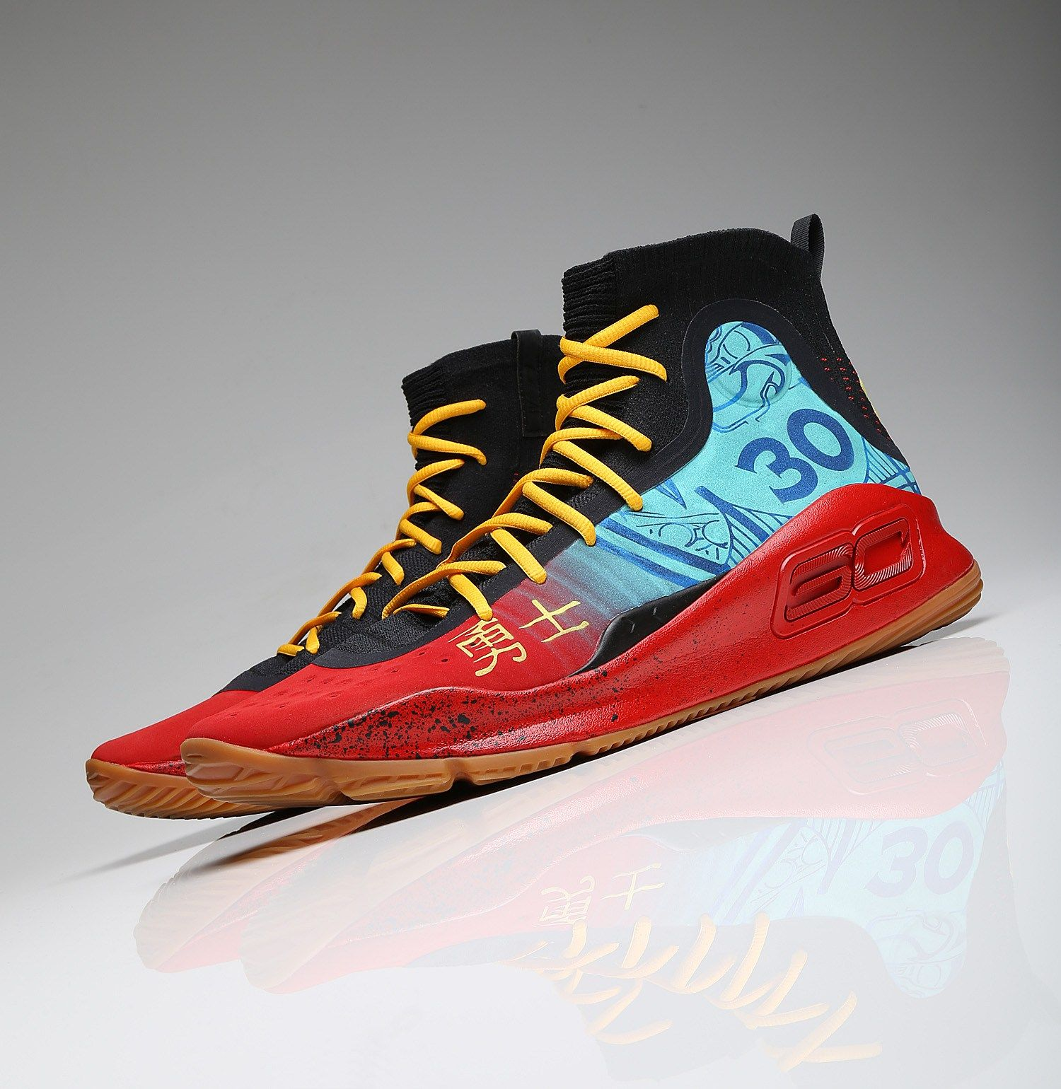 finest selection ec79b 8239f Stephen Curry s Exact  Chinese New Year  Under Armour Curry 4   Nice Kicks