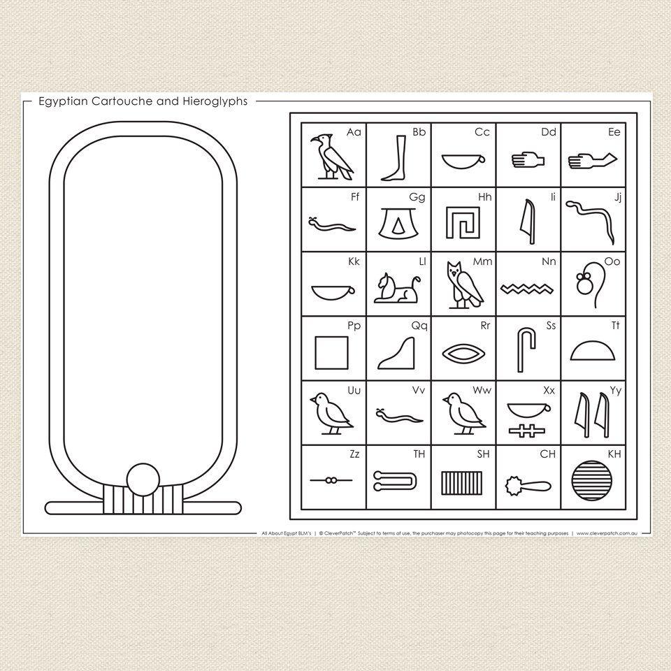 Hieroglyphics writing activity middle school