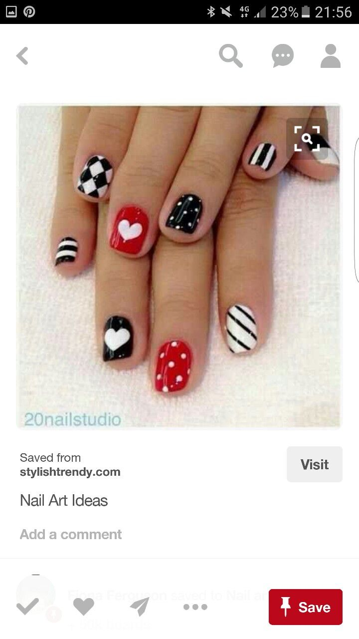 Nail Art Ideas nail art tricks : Pin by Tasha West on valentines nails | Pinterest | Lips