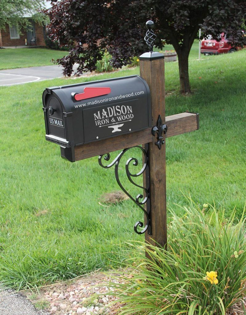 Showy Swing Away Mailbox Get Snowplow Protection Diy Mailbox Post