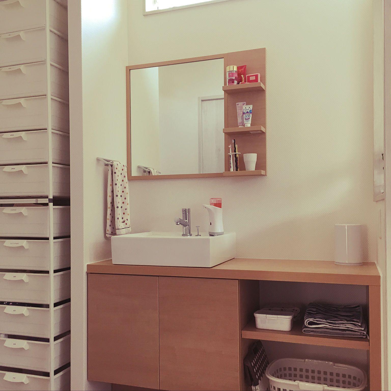 ナチュラル 洗面台 リクシル こどもと暮らす エスタ 造作風のインテリア実例 2018 01 02 00 46 40 リクシル 洗面台 造作