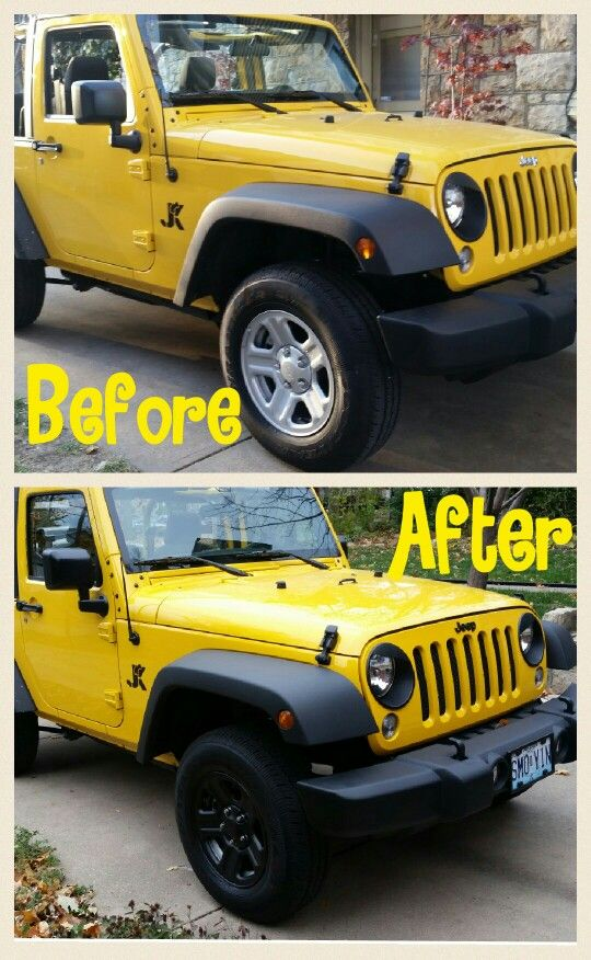 Plasti Dip The Tires Have A Yellow Jeep Wrangler Join The Club