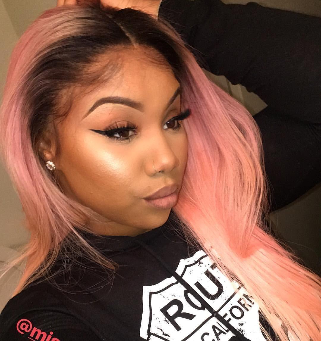 Pink Hair Black Girl Pink Hair In 2020 Black Girl Pink Hair Pink Hair Streaks Pink Hair Highlights