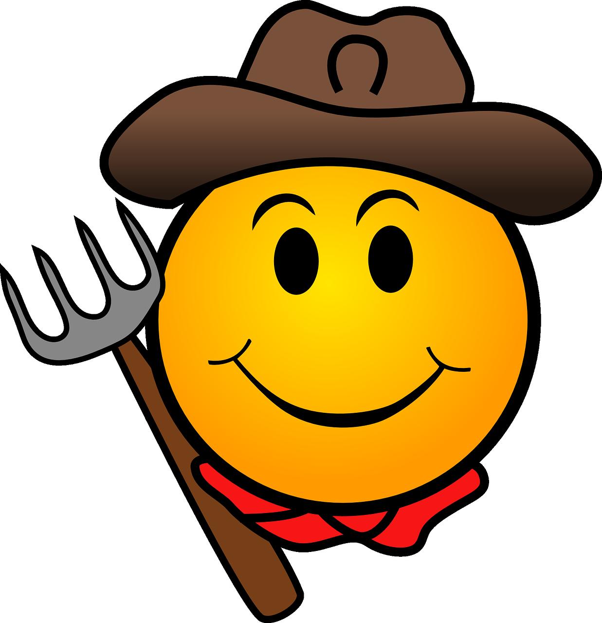Gratis Obraz Na Pixabay Kowboj Gospodarstwa Rolnik Buzka Emoticon Smiley Emoji Images