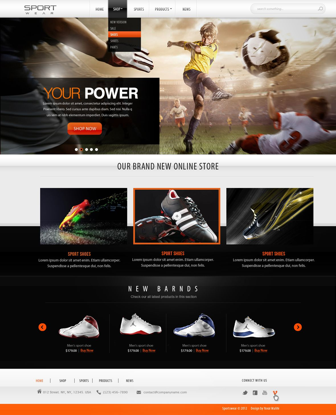 Sports website design FOR SALE by yuval10203 on