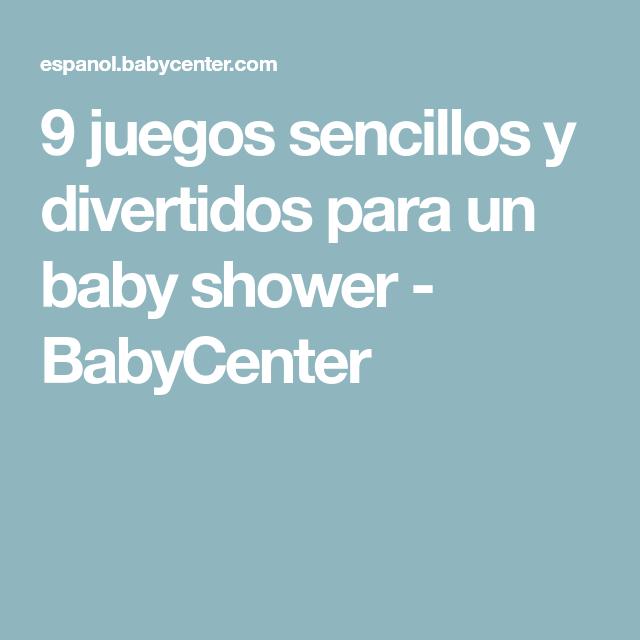 9 Juegos Sencillos Y Divertidos Para Un Baby Shower En 2018 Baby
