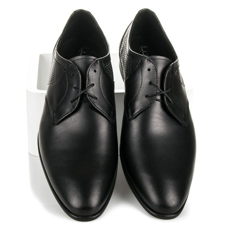 Polbuty Meskie Lucca Lucca Czarne Polbuty Na Wiazanie Dress Shoes Men Oxford Shoes Dress Shoes