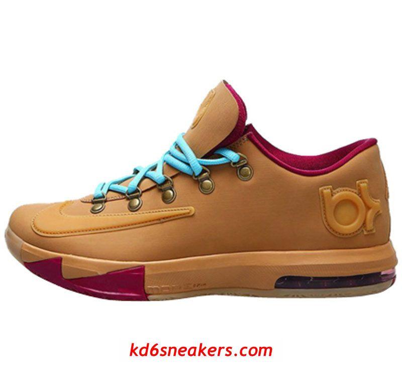 NIKE KD VI KD6 Kevin Durant Brown Basketball shoes