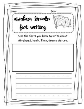 008 Abraham Lincoln CCSS Fact and Opinion Lesson and Writing