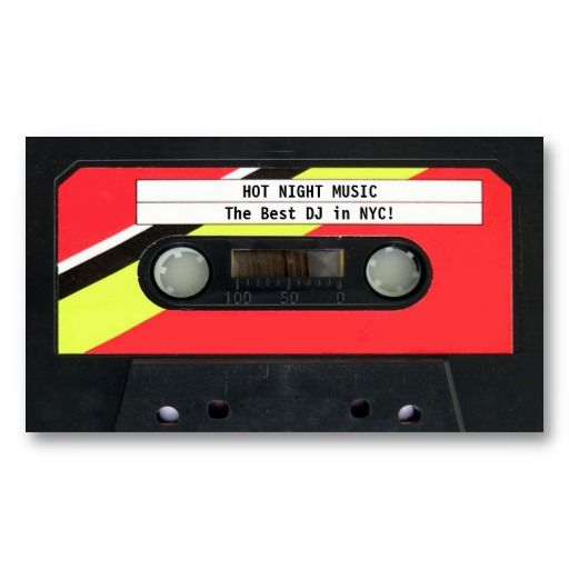 Audio cassette dj business card dj business cards business cards audio cassette dj business card reheart Images