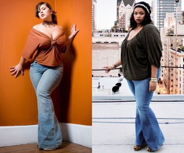 c13b4206bc4b0c Found this wonderful gem squished between 10 other articles that say plus  size women shouldn t wear flare jeans.  losehatenotweight
