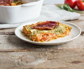 Tomaten-Lasagne mit Zitronenpesto
