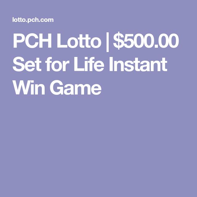 Pch com set for life