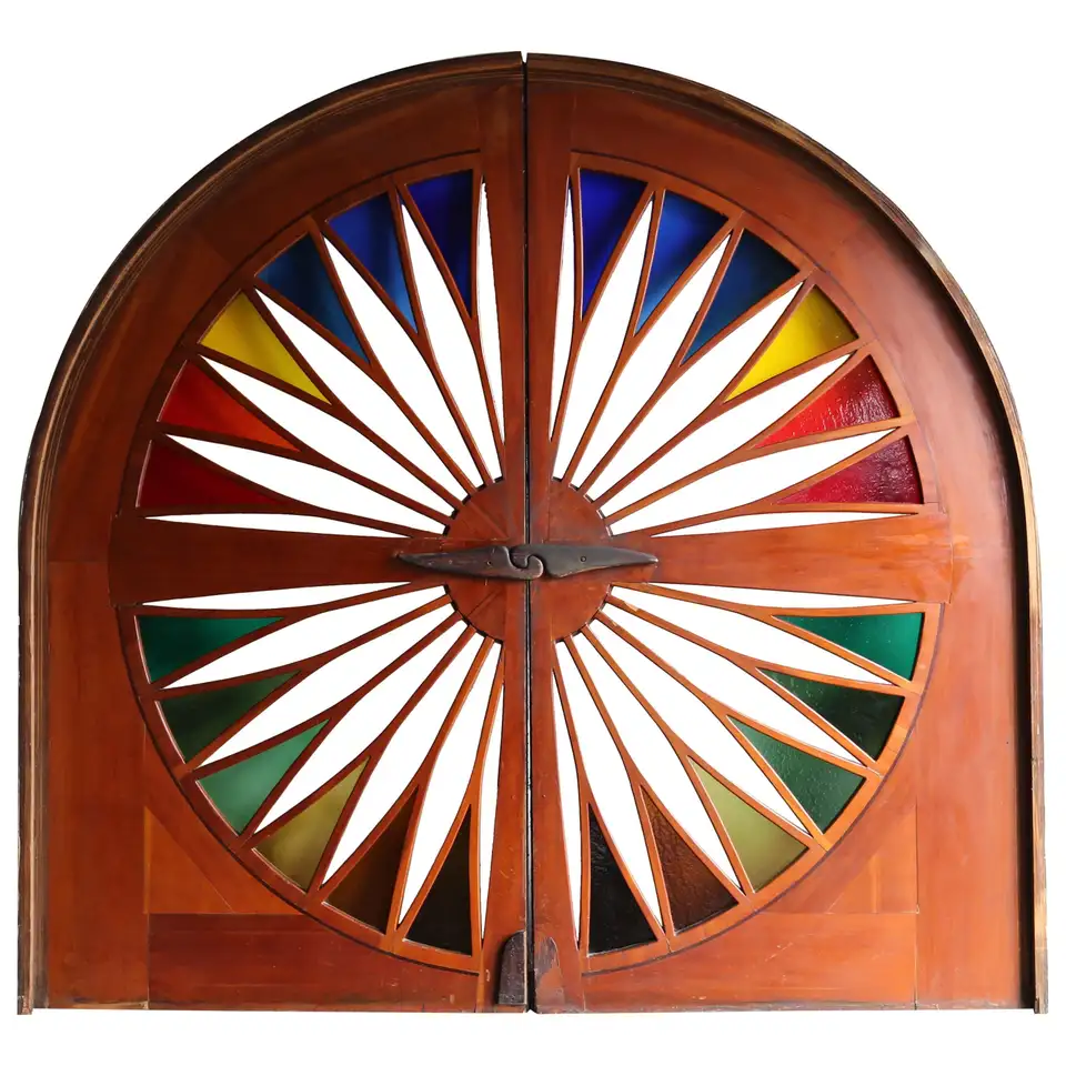 Monumental Stained Glass Sliding Doors Circa 1970 In 2020 Entry Doors With Glass Modern Stained Glass Modern Stained Glass Panels