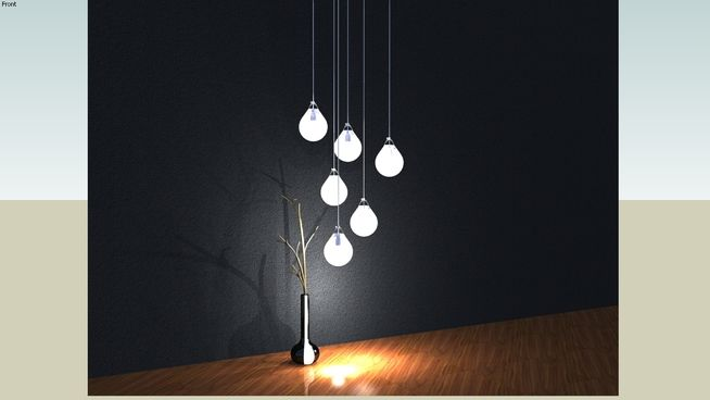 Hanging Light Cluster - 3D Warehouse | 草图模型 | Hanging lights