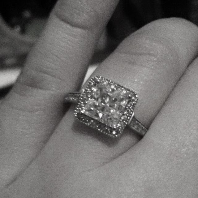 My Gourgeous Engagement Ring, from My Handsome and Loving Fiance'......