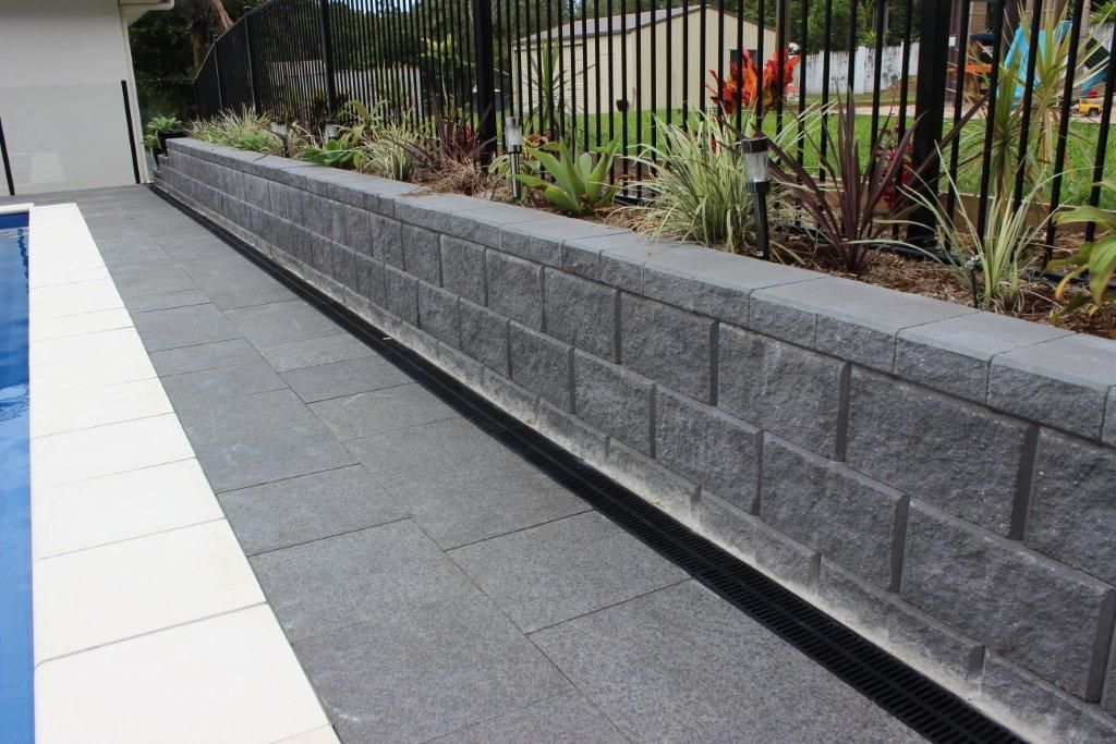 Hastings Retaining Wall Colour Charcoal Garden Retaining Wall Landscaping Retaining Walls Retaining Wall