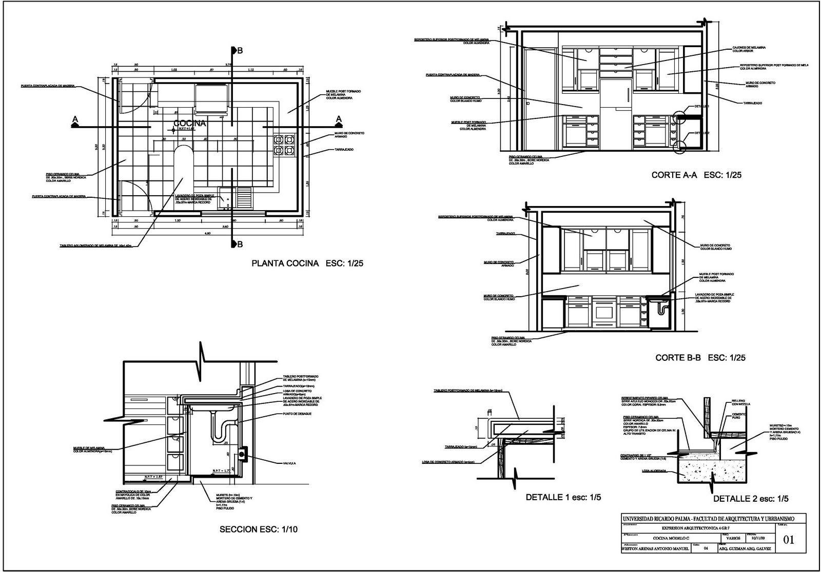 Expresi n arquitect nica 4 planos de detalles for Medidas en arquitectura pdf