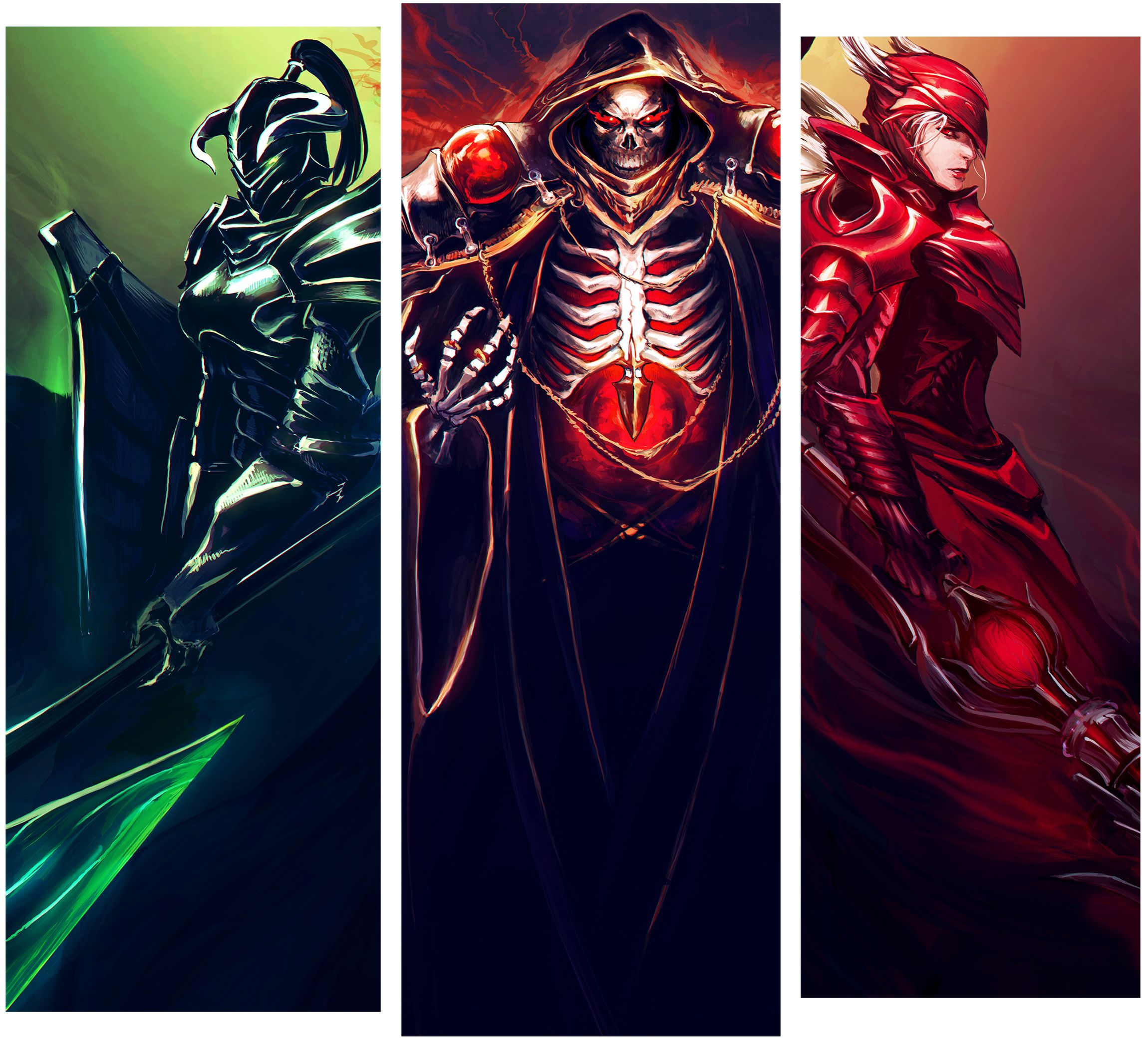 Overlord Characters Albedo Ainz Ooal Gown Shalltear Bloodfallen Anime Films Anime Wallpaper Anime Movies