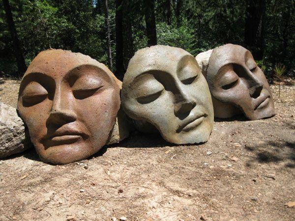 Captivating Buddha Fragments   Buddha Faces, Kwan Yin, Encaustic, Studio Bridges