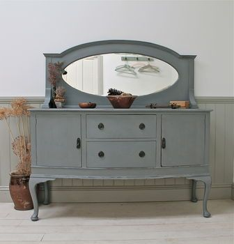 Painted Mirror Back Chiffonier By Distressed But Not ...